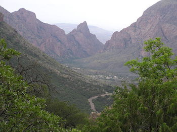 A few of jagged mountains and Big Bend National Park; Credit: NPS