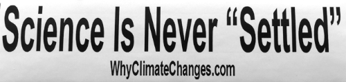 climate change - Science is never settled
